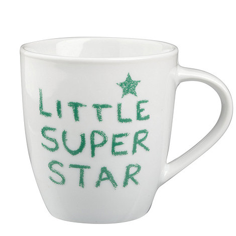 Jamie Oliver - White +Little super star+ slogan mug