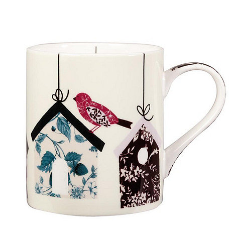 Queens - White hanging bird houses mug