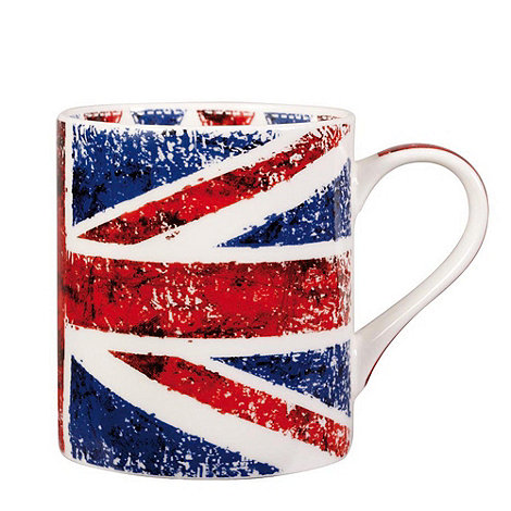 Queens - White 'Backing Britain' mug