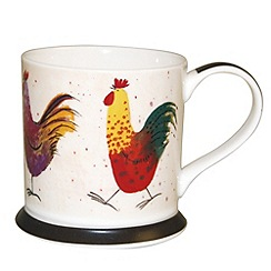 Queens - White rooster mug