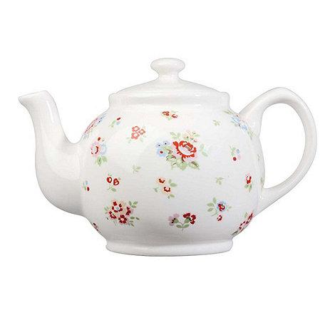 Cath Kidston - White +Sprig+ teapot