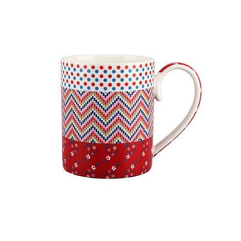 Denby - Red multiple print +Celia+ mug