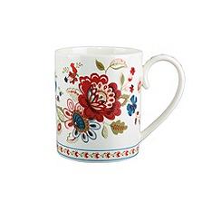 Denby - White floral printed 'Heidi' mug