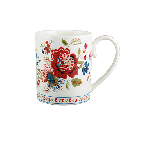 Denby - White floral printed +Heidi+ mug