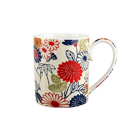 Denby - White floral printed +Kiesha+ mug