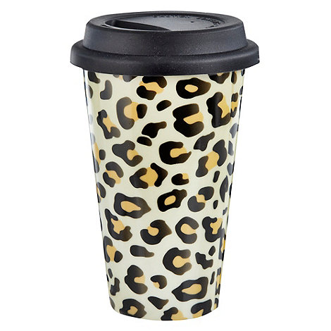 Creative Tops - Natural leopard travel mug