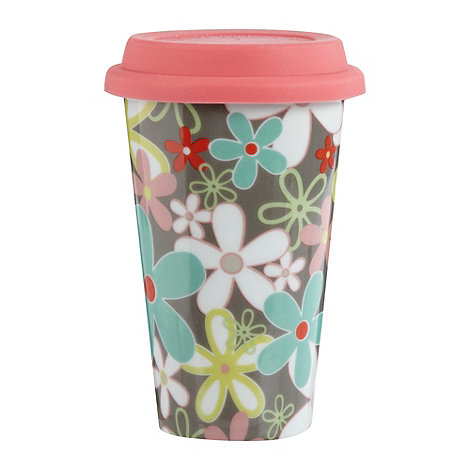 Creative Tops - Ceramic pink floral travel mug