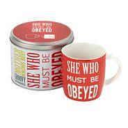 Red 'She who must be obeyed' mug