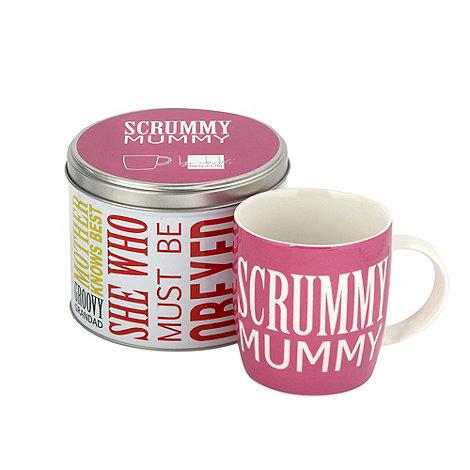 Ben de Lisi Home - Pink +Scrummy Mummy+ slogan mug