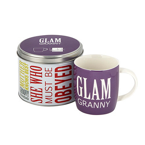 Ben de Lisi Home - Purple +Glam Granny+ slogan mug