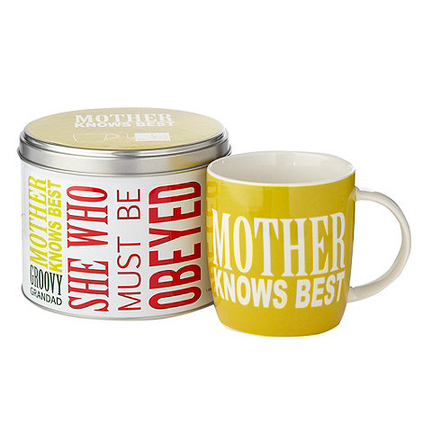 Ben de Lisi Home - Yellow +Mother Knows Best+ slogan mug