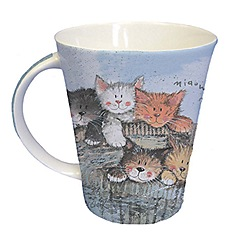 Queens - Blue 'Kittens' mug