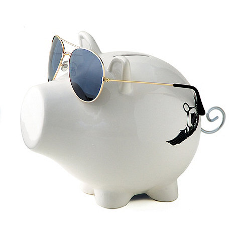 Salt & Pepper - White aviator money box