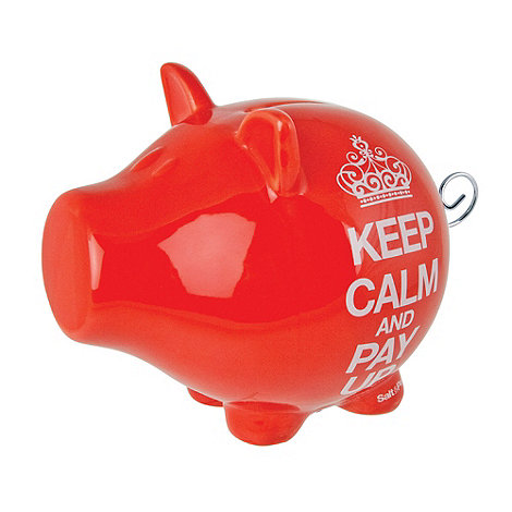 Salt & Pepper - Red +Keep Calm+ money box