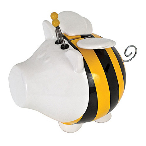 Salt & Pepper - White bumble bee money box