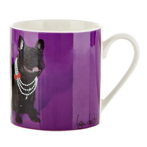 Ben de Lisi Home - Purple cabaret dog motif mug
