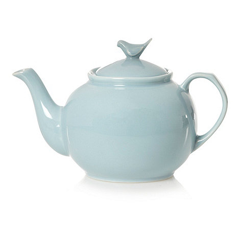 At home with Ashley Thomas - Light blue stoneware teapot