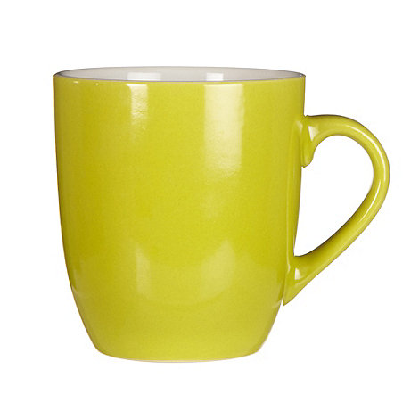 Home Collection Basics - Lime green stoneware mug
