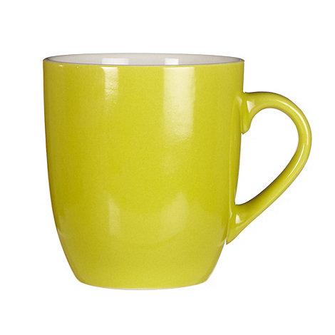 Home Collection Basics - Lime green stoneware mug