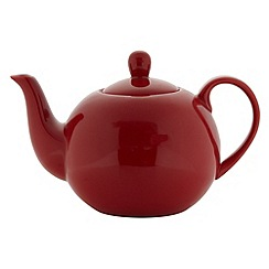 Home Collection Basics - Stoneware red teapot
