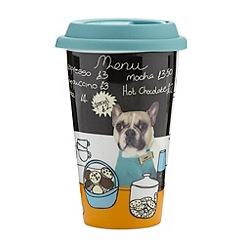 Ben de Lisi Home - Designer stoneware 'Barista' travel mug