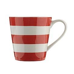 J by Jasper Conran - Designer stoneware striped painted mug