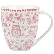 Fine china red 'Penzance Crush' mug