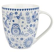 Fine china blue 'Penzance Crush' mug