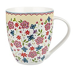 Queens - Fine china yellow 'Penryn' mug