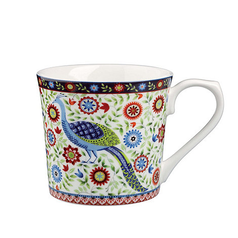 Queens - Fine bone china peacock mug