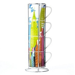 Ben de Lisi Home - Designer fine china 'New York' stacking mug set