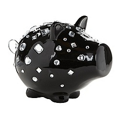 Salt & Pepper - Ceramic 'Oink' diamante pig money box
