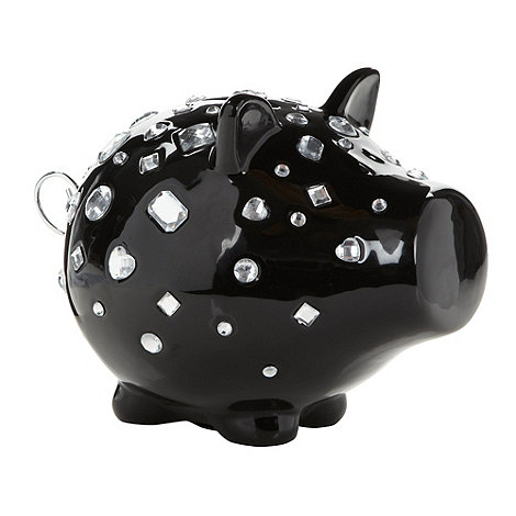 Salt & Pepper - Ceramic +Oink+ diamante pig money box