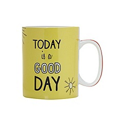 Ben de Lisi Home - Designer yellow 'Good day' giant mug
