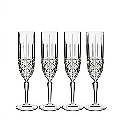 Marquis by Waterford - Set of 4 Brady champagne flutes