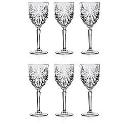 Gordon Ramsay By Royal Doulton - Set of 6 'Oasis' wine glasses