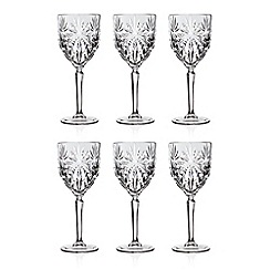 Gordon Ramsay By Royal Doulton - Set of 6 'Oasis' wine glasses