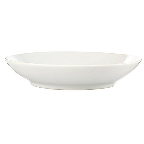 Home Collection Basics - White stoneware pasta bowl