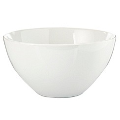 Home Collection Basics - White stoneware cereal bowl