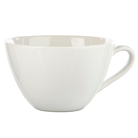 Home Collection Basics - White stoneware tea cup