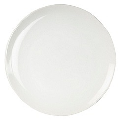 Home Collection Basics - White stoneware dinner plate
