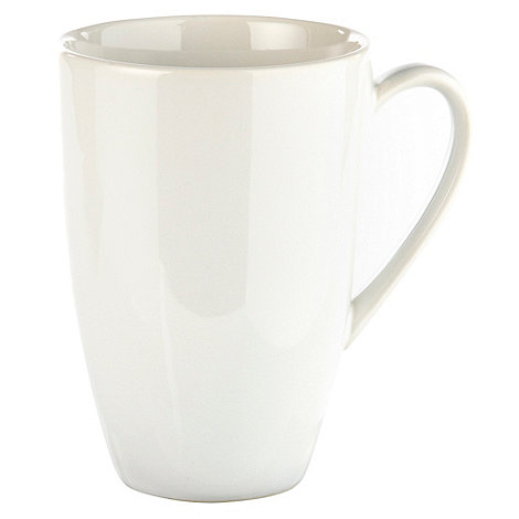 Home Collection Basics - White stoneware mug