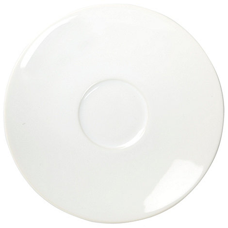 Home Collection Basics - White stoneware tea saucer