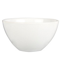 Home Collection Basics - White stoneware salad bowl