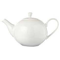 Home Collection Basics - White stoneware teapot