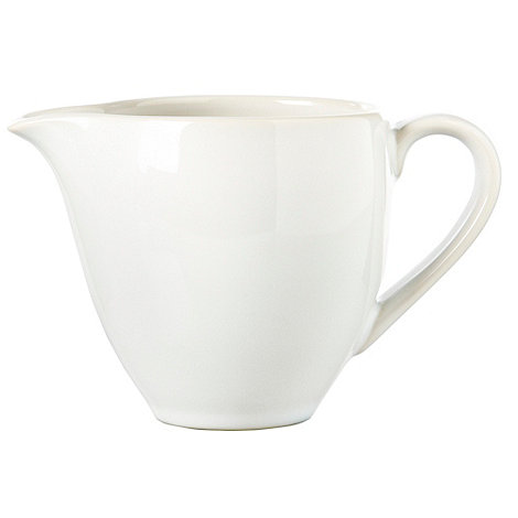 Home Collection Basics - White stoneware creamer