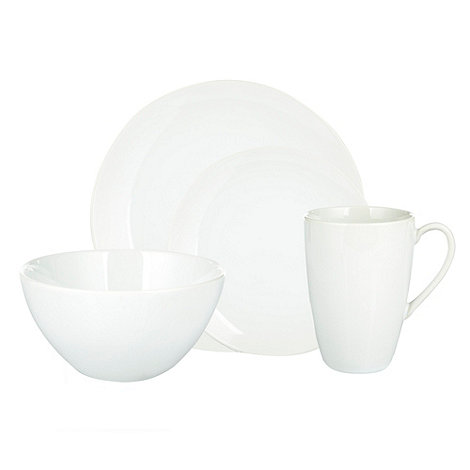 Home Collection Basics - Sixteen piece stoneware dinner set