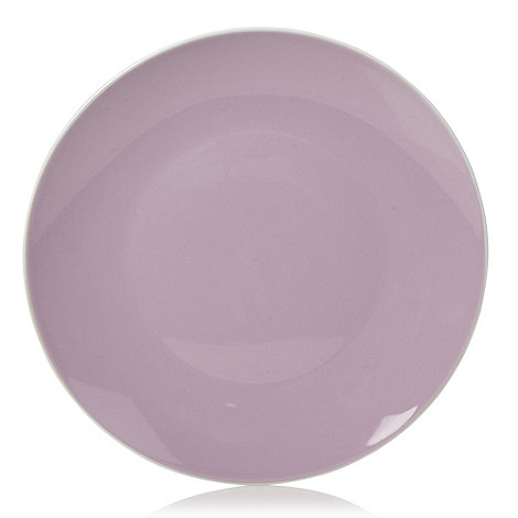 Home Collection Basics - Stoneware purple two-toned dinner plate