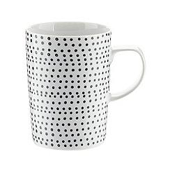 Debenhams - Porcelain black 'Helsinki' latte mug