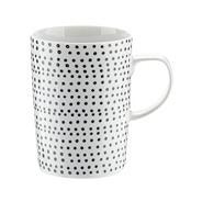 Porcelain black 'Helsinki' latte mug